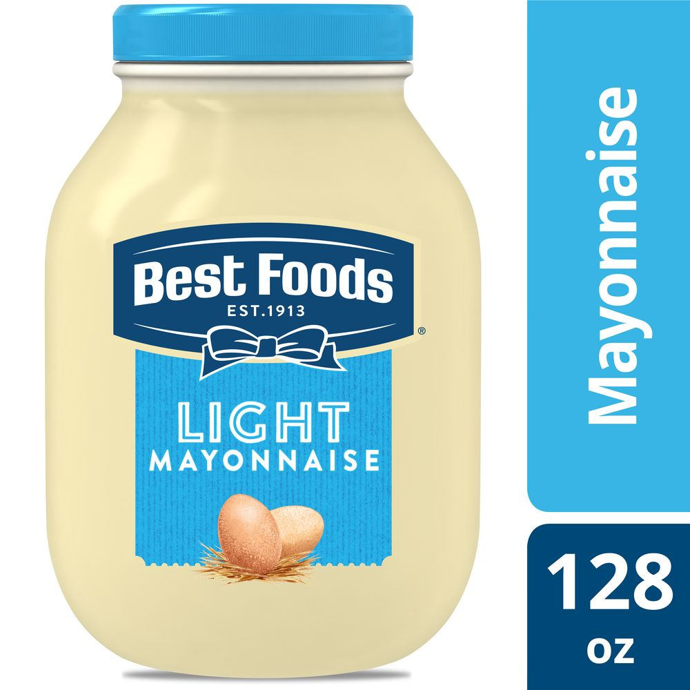 Best Foods® Mayonnaise Gallon Light 1 gallon, Pack of 4 - Best Foods Light Mayonnaise Stick Packets treat your health-conscious guests to a delicious condiment that won't disrupt their diet.