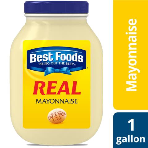 Best Foods® Mayonnaise Gallon Real 1 gallon, Pack of 4 - Best Foods® Real Mayonnaise for Food Service Gallon is a perfect balance of acidic and sweet flavor.