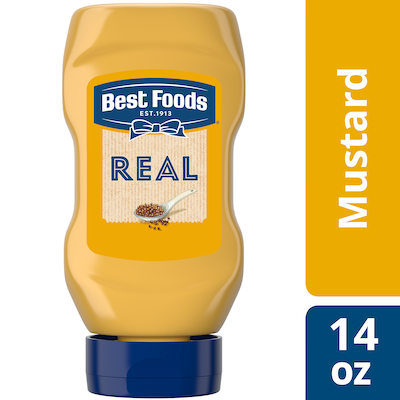 Best Foods® Mustard Squeeze Bottle 12 x 14 oz - Best Foods Real Ketchup & Real Yellow Mustard have simple ingredients guests can trust.