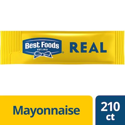 Best Foods® Real Mayonnaise Stick Packets 0.38 ounces, 210 count - Best Foods Real Mayonnaise is made with real eggs, oil, and vinegar for a rich, creamy flavor that your guests can savor.