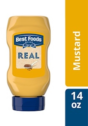 Best Foods® Squeeze Bottle Mustard 14 ounces, Pack of 12 - Best Foods® Real Ketchup & Real Yellow Mustard have simple ingredients guests can trust.