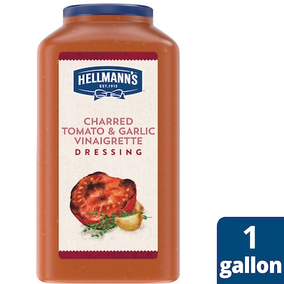 Hellmann's® Charred Tomato & Garlic Dressing 4 x 1 gal - I'm constantly looking for new flavor combinations like the Hellmann's® Charred Tomato & Garlic Dressing (4 x 1 gal) to keep my salads fresh and exciting.