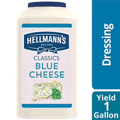 Hellmann's® Classics Blue Cheese Dressing 4 x 1 gal - To your best salads with dressing that looks, performs and tastes like you made it yourself.