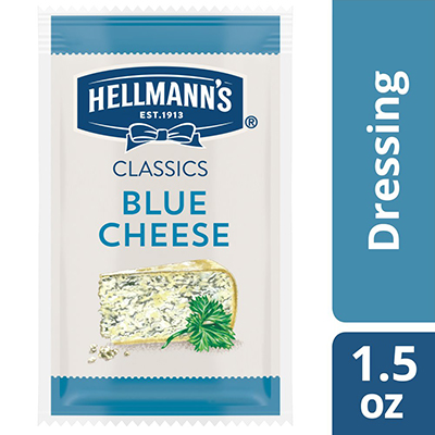 Hellmann's® Classics Blue Cheese Dressing Sachet 102 x 1.5 oz - To your best salads with dressing that looks, performs and tastes like you made it yourself.