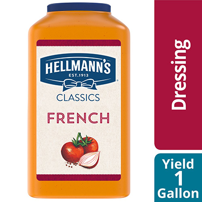 Hellmann's® Classics French Dressing 4 x 1 gal - To your best salads with Hellmann's® Classics French Dressing (4 x 1 gal) that looks, performs and tastes like you made it yourself.