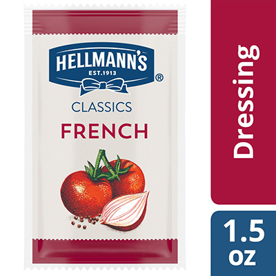 Hellmann's® Classics French Dressing Sachet 102 x 1.5 oz - To your best salads with Hellmann's® Classics French Dressing (102 x 1.5 oz) that looks, performs and tastes like you made it yourself.