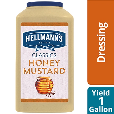 Hellmann's® Classics Honey Mustard Dressing 4 x 1 gal - To your best salads with dressing that looks, performs and tastes like you made it yourself.