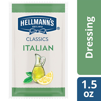 Hellmann's® Classics Italian Dressing Sachet 102 x 1.5 oz - To your best salads with dressing that looks, performs and tastes like you made it yourself.