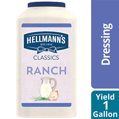 Hellmann's® Classics Ranch Dressing 4 x 1 gal - To your best salads with dressing that looks, performs and tastes like you made it yourself.