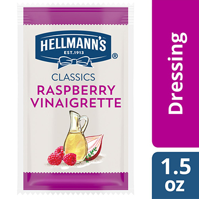Hellmann's® Classics Raspberry Vinaigrette Sachet 102 x 1.5 oz - To your best salads with Hellmann's® Classics Raspberry (102 x 1.5 oz) dressing that looks, performs and tastes like you made it yourself.