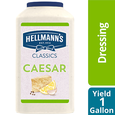 Hellmann's® Classics Salad Dressing Jug Caesar 1 gallon, pack of 4 - To your best salads with dressing that looks, performs and tastes like you made it yourself.
