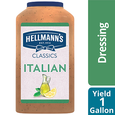 Hellmann's® Classics Salad Dressing Jug Italian 1 gallon, pack of 4 - To your best salads with dressing that looks, performs and tastes like you made it yourself.