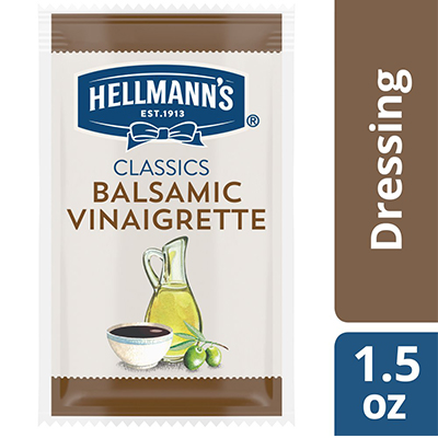 Hellmann's® Classics Salad Dressing Portion Control Sachet Balsamic Vinaigrette 1.5 ounces, pack of 102