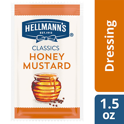 Hellmann's® Classics Salad Dressing Portion Control Sachet Honey Mustard 1.5 ounces, pack of 102 - To your best salads with dressing that looks, performs and tastes like you made it yourself.