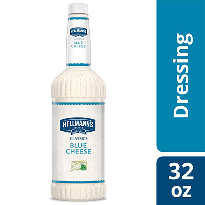 Hellmann's® Classics Salad Dressing Salad Bar Bottle Blue Cheese 32 ounces, pack of 6