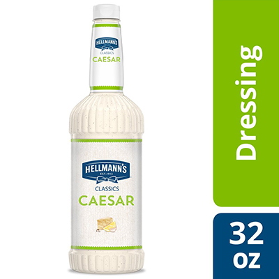 Hellmann's® Classics Salad Dressing Salad Bar Bottle Caesar 32 ounces, pack of 6