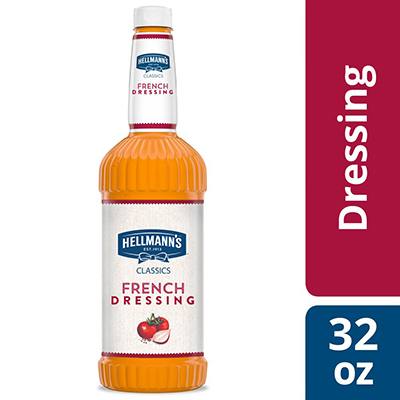 Hellmann's® Classics Salad Dressing Salad Bar Bottle French 32 ounces, pack of 6