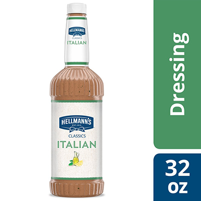 Hellmann's® Classics Salad Dressing Salad Bar Bottle Italian 32 ounces, pack of 6