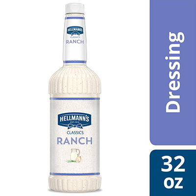 Hellmann's® Classics Salad Dressing Salad Bar Bottle Ranch 32 ounces, pack of 6