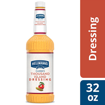 Hellmann's® Classics Salad Dressing Salad Bar Bottle Thousand Island 32 ounces, pack of 6 - To your best salads with dressing that looks, performs and tastes like you made it yourself.