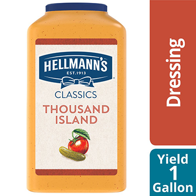 Hellmann's® Classics Thousand Island Dressing 4 x 1 gal - To your best salads with dressing that looks, performs and tastes like you made it yourself.