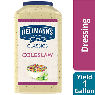Hellmann's® Coleslaw Salad Dressing 4 x 1 gal - To your best salads with Hellmann's® Coleslaw Salad Dressing (4 x 1 gal) that looks, performs and tastes like you made it yourself.