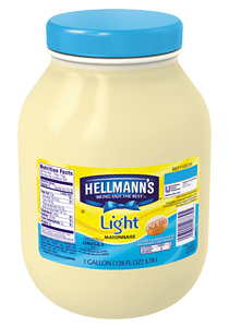 Hellmann's® Light Mayonnaise has half the fat, with all the flavor.