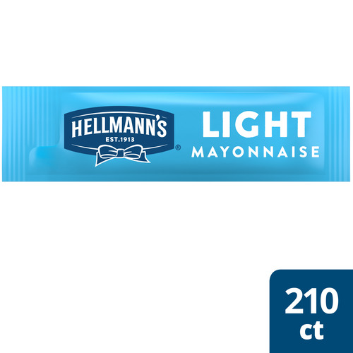 Hellmann's® Light Mayonnaise Stick Pack 210 x 0.38 oz - Hellmann's® Light Mayonnaise Stick Pack (210 x 0.38 oz) brings out the flavor of quality meat and produce.