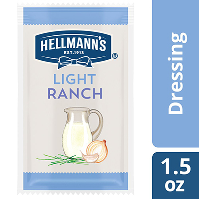 Hellmann's® Light Ranch Salad Dressing Sachet 102 x 1.5 oz - To your best salads with dressing that looks, performs and tastes like you made it yourself.