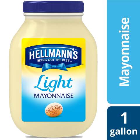 Hellmann's® Mayonnaise Gallon Light 1gallon, Pack of 4