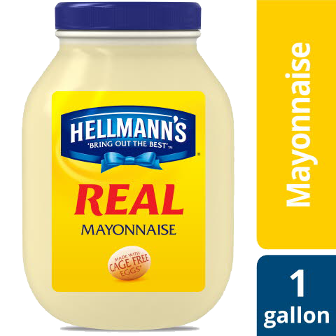 Hellmann's® Mayonnaise Gallon Real 128 ounces, Pack of 4