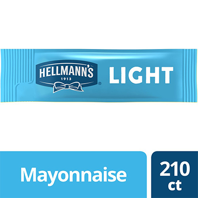 Hellmann's® Mayonnaise Stick Packets Light 0.38 ounces, pack of 210