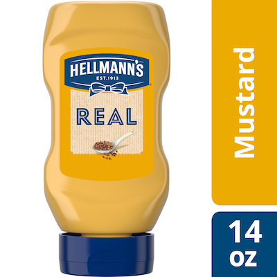 Hellmann's® Mustard Squeeze Bottle 12 x 14 oz - Hellmann's Real Ketchup & Real Yellow Mustard have simple ingredients guests can trust.