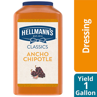 Hellmann's® Real Ancho Chipotle Sauce 2 x 1 gal - To your best salads with Hellmann's® Real Ancho Chipotle Sauce (2 x 1 gal) dressing that looks, performs and tastes like you made it yourself.