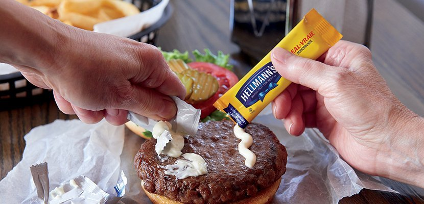 Hellmann's® Real Mayonnaise Portion Control Stick Pack - 10048001351650 - EASY OPEN ALLOWS MORE CONTROL.