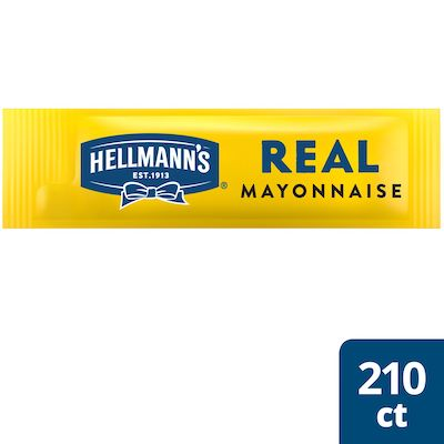 Hellmann's® Real Mayonnaise Stick Pack 210 x 0.38 oz - Hellmann's® Stick Packs are easy to open and easy to apply.