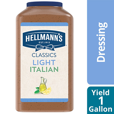 Hellmann's® Salad Dressing Jug Light Italian 1 gallon, pack of 4