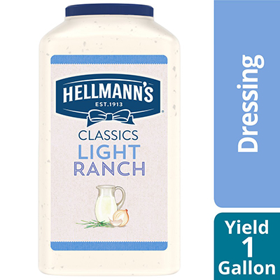 Hellmann's® Salad Dressing Jug Light Ranch 1 gallon, pack of 4
