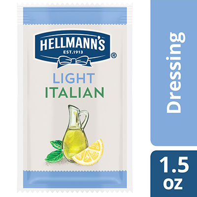 Hellmann's® Salad Dressing Portion Control Sachet Light Italian 1.5 ounces, pack of 102 - To your best salads with dressing that looks, performs and tastes like you made it yourself.