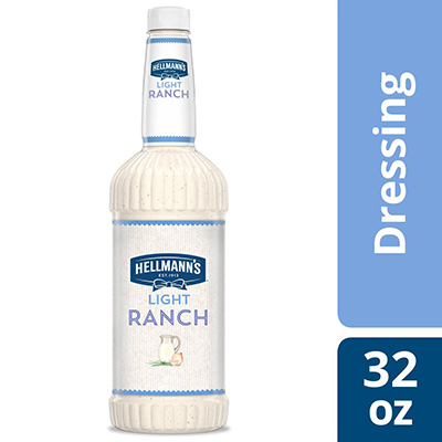 Hellmann's® Salad Dressing Salad Bar Bottle Light Ranch 32 ounces, pack of 6 - To your best salads with dressing that looks, performs and tastes like you made it yourself.
