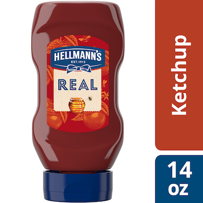 Hellmann's® Squeeze Bottle Ketchup with Honey 14 ounces, Pack of 12 - Hellmann's® Real Ketchup & Real Yellow Mustard have simple ingredients guests can trust.