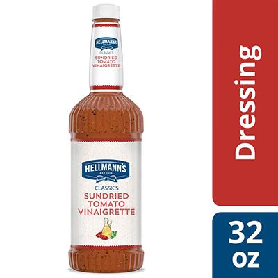 Hellmann's® Sundried Tomato Vinaigrette 6 x 32 oz - To your best salads with Hellmann's® Sundried Tomato Vinaigrette (6 x 32 oz) dressing that looks, performs and tastes like you made it yourself.