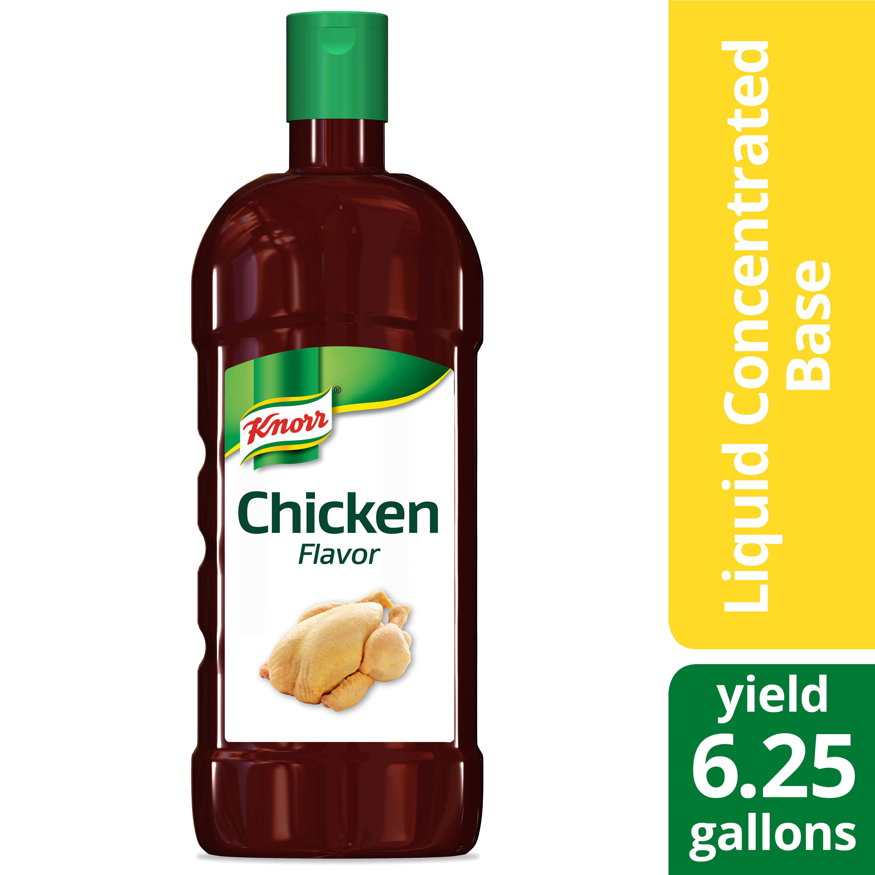 Knorr® Liquid Concentrated Base Chicken 32 ounces, Pack of 4 - Knorr® liquid concentrated base offers exceptional flavor, color, and aroma.