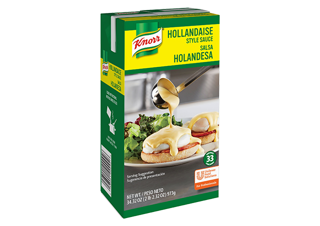 Knorr Liquid Sauce Hollandaise 34.32 oz, Pack of 6 - 10048001000923 - Breakfast service can be one of the toughest.