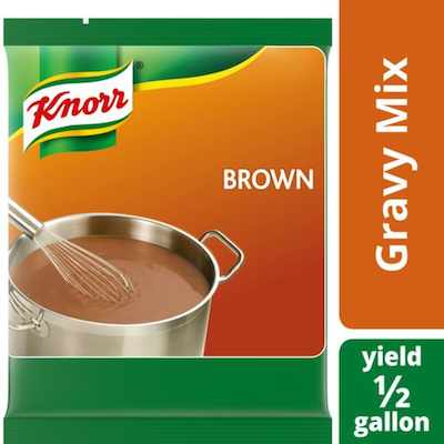 Knorr® Professional Brown Gravy 6.83 ounces, pack of 6 - Deliver simple, clean food with ease. Knorr® Gravies are reinvented by our chefs with your kitchen and your customers in mind.