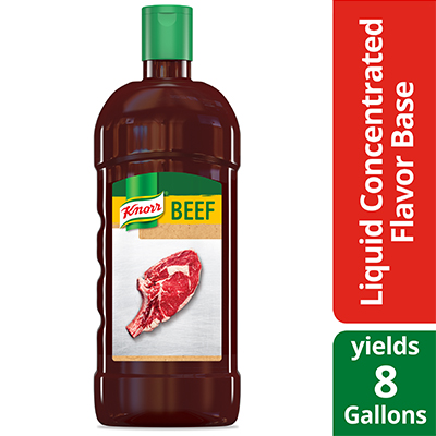 Knorr® Professional Liquid Concentrated Base Beef 32 ounces, pack of 4 - Deliver simple, clean food with ease. Knorr® Bases are reinvented by our chefs with your kitchen and your customers in mind.