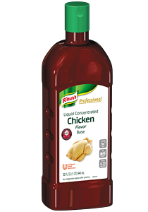 Only Knorr® Liquid Concentrated Bases deliver closest-to-scratch flavor.