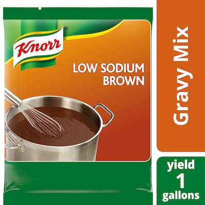 Knorr® Professional Low Sodium Brown Gravy 6 x 13.5 oz - Knorr® Brown Gravy and Low-Sodium Brown Gravy deliver superior quality, balanced flavor, and performance you can rely on.