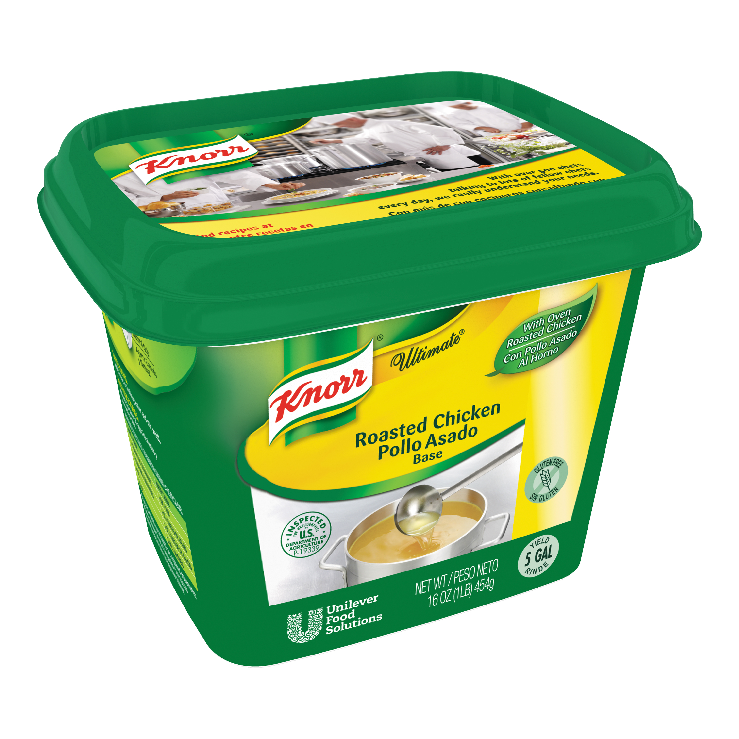 Knorr® Ultimate Chicken Gluten Free - 10048001503363 - Excess salt in bases masks the true flavor of soups.