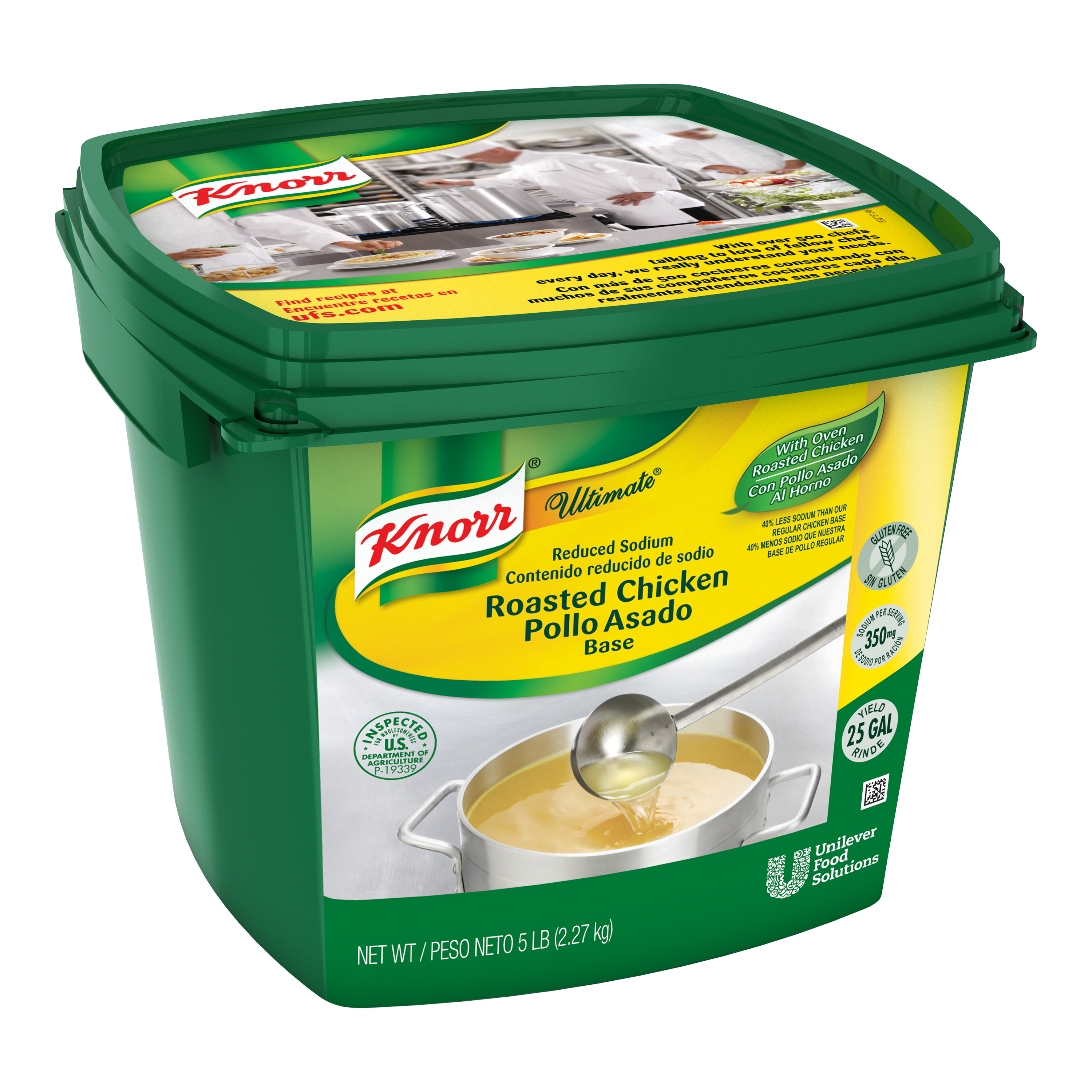 Knorr® Ultimate Chicken Reduced Sodium - 10048001499833 - Excess salt in bases masks the true flavor of soups.